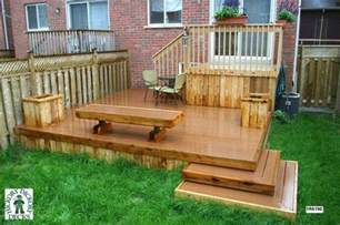 Small Backyard Decks by Step Down To Patio Ideas This Deck Plan Is For A Medium