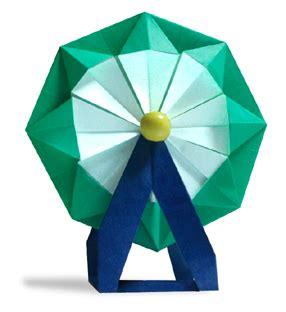 How To Make A Paper Ferris Wheel - origami ferris wheel