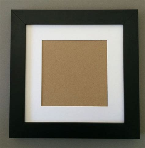 10 x 10 black frame with mat 10x10 1 1 2 black frame with white picture mat cut for 6x6