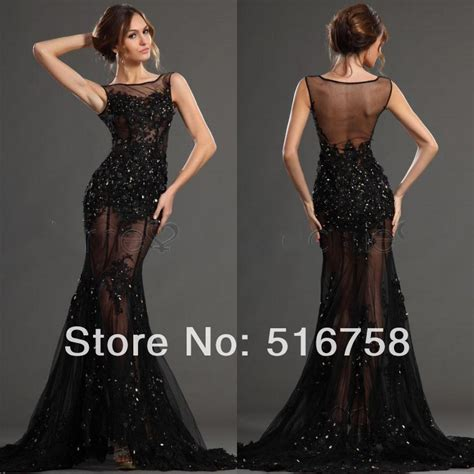 Ds 140 Dress Bling Blibg high neck sheer illusion black sparkle bling bling