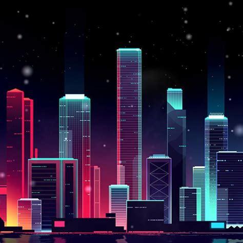 neon skyline wallpaper engine  urban wallpaper