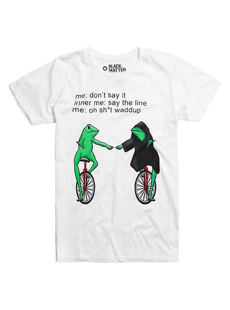 Meme Shirts Hot Topic - inner frog monologue t shirt hot topic