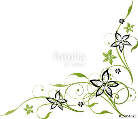 Blumenmuster Vorlagen Quot Ranke Mit Blumen Schwarz Gr 252 N Gr 252 Nt 246 Ne Quot Stockfotos Und Lizenzfreie Vektoren Auf Fotolia