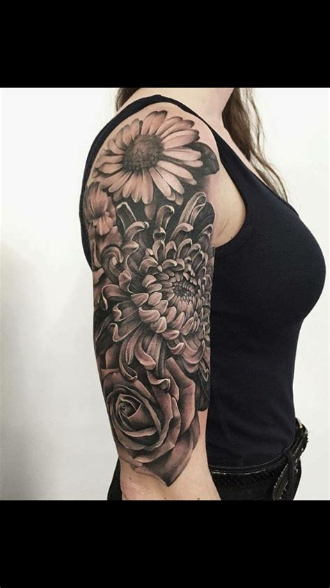 half sleeve flower tattoo designs best 25 sleeve tattoos ideas on