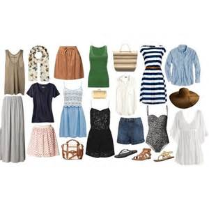 summer travel capsule wardrobe pin pack go