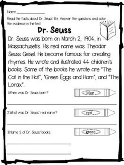 biography and autobiography reading activites pinterest close reading cut and paste and dr seuss on pinterest