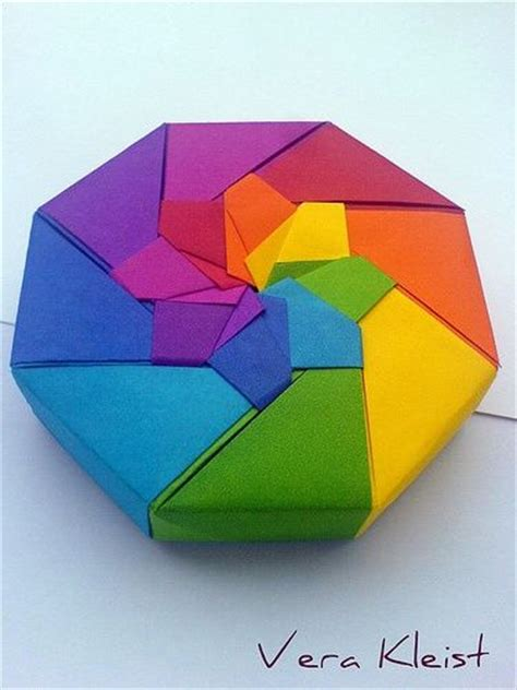 How To Make A Paper Octagon - 25 best ideas about origami boxes on diy box