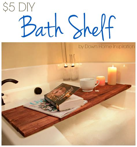 Reading In The Tub In The Bookcase by Diy Bath Shelf Home Inspiration