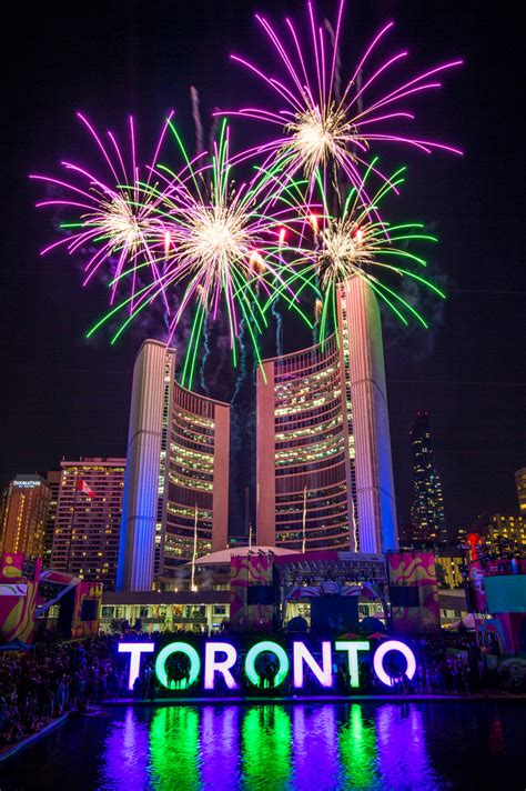 new year in toronto toronto city at fireworks at nathan phillips