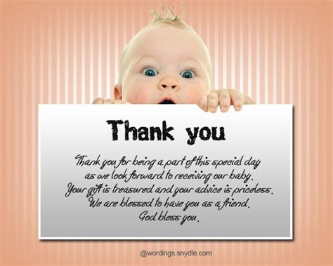 Thank You For The Baby Shower by Thank You Messages For Baby Shower Messages And Gifts