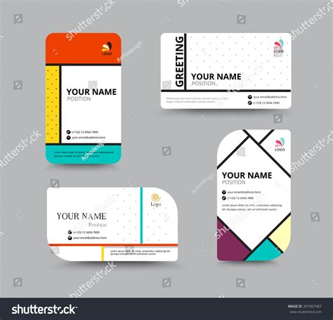 card name template vector business card template name card design stock vector