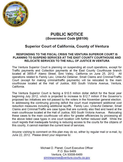 Tenant Eviction Ventura County Ventura County Landlords No More Simi Valley Courthouse