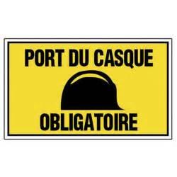panneau port du casque obligatoire en plastique leroy merlin