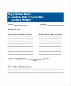 committee meeting template 15 committee meeting agenda templates free sle