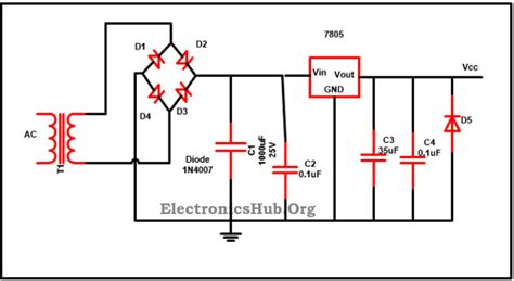 why we use capacitor in dc circuit why do we use two parallel capacitors in a voltage regulator circuit electrical engineering