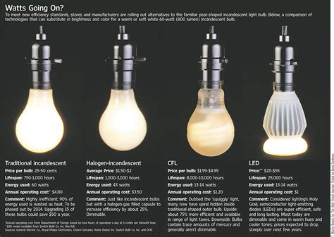 Type Of Light Bulbs by Light Bulb Type Infographic Infographics
