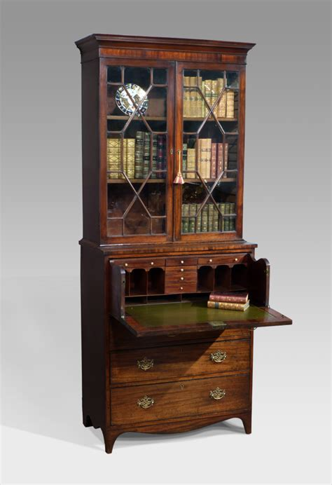Antique Secretaire Bookcase antique secretaire bookcase glazed bookcase bureau and secretaire