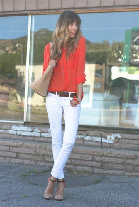 idees pour une tenue avec pantalon blanc