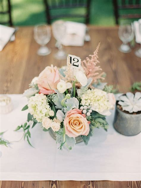 25  best ideas about Blush wedding centerpieces on