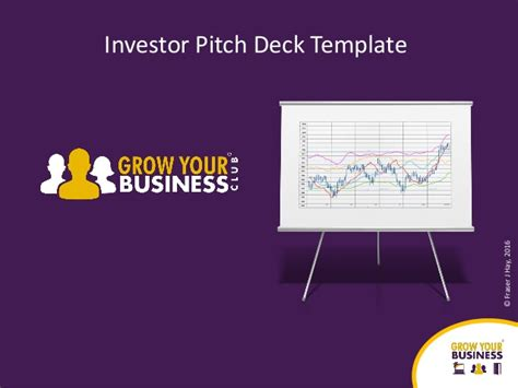 Investor Pitch Deck Template 2017 Investor Pitch Template