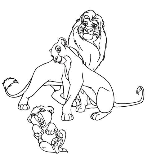 disney lion king simba and nala coloring pages coloring pages