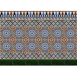 azulejos granadinos zocalo medina azulejos artesanos granadinos pinterest