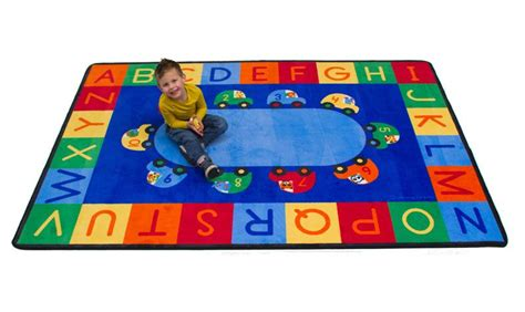 cars and alphabet and numbers rug alphabet mat classroom