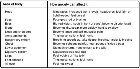 anxiety symptoms the anxiety nervous system