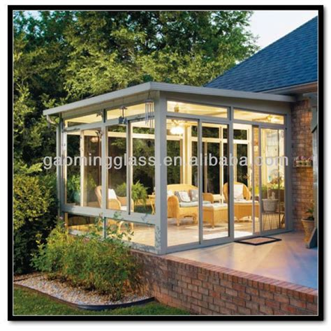 Prefab Sunrooms prefabricated glass sunroom attached to house conservatory insulating images frompo