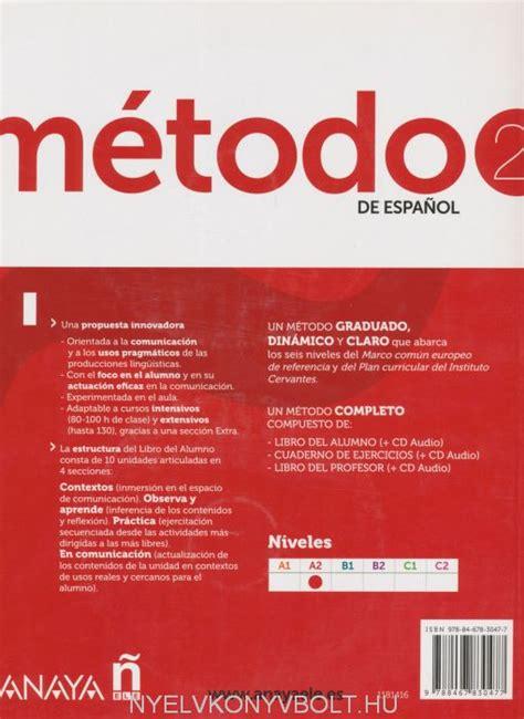libro talk spanish 2 book cd m 233 todo de espanol 2 libro del alumno incluye cd audio nyelvk 246 nyv forgalmaz 225 s nyelvk 246 nyvbolt