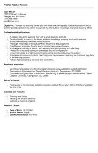 Cover Letter For Teaching For Freshers by Resume For Freshers