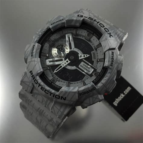 Casio G Shock Grey grey casio g shock analog digital xl ga110sl 8a