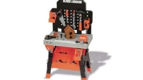kids tool bench black and decker black decker junior play workbench grandparents com