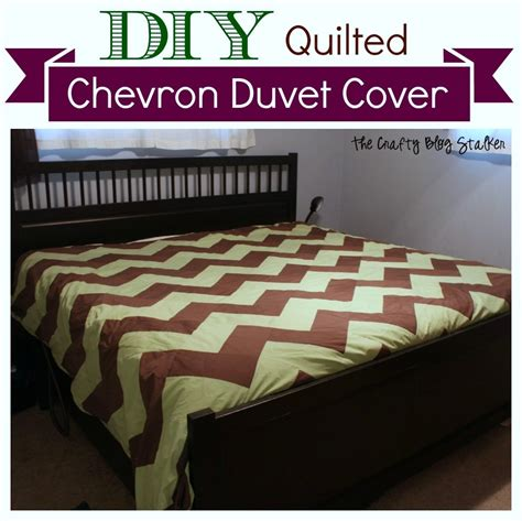 How To Make A Patchwork Quilt Cover - how to make a king size quilted chevron duvet cover the