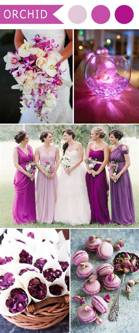 themes in the color purple 5 different shades of purple wedding colors weddings