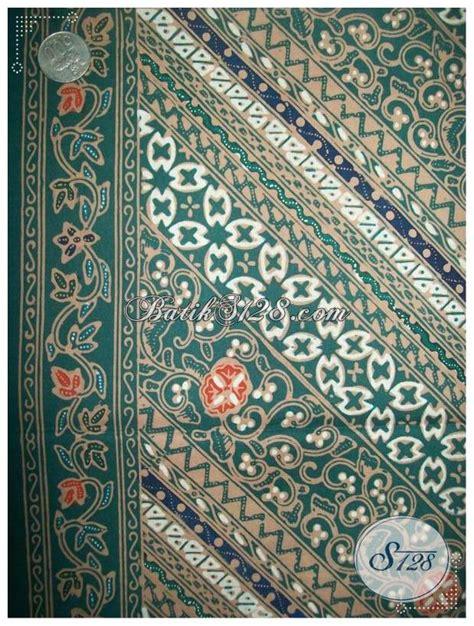 Kain Batik Kombinasi Motif Parang Bunga kain batik motif parang dan bunga warna hijau kct619 toko batik 2018