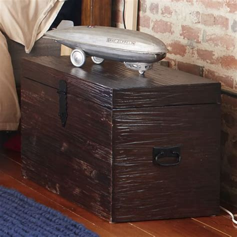end of bed trunk dark wood end of bed trunk pbteen