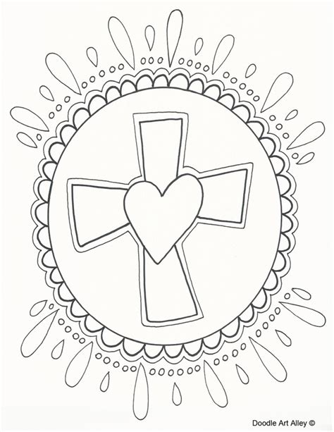 doodle religion easter coloring pages religious doodles
