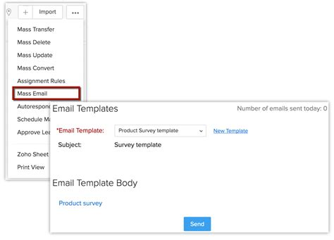mass email templates working with zoho survey help zoho crm