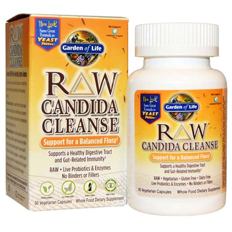 Pet Candida Detox Supplements by Garden Of Candida Cleanse 60 Vcapsules