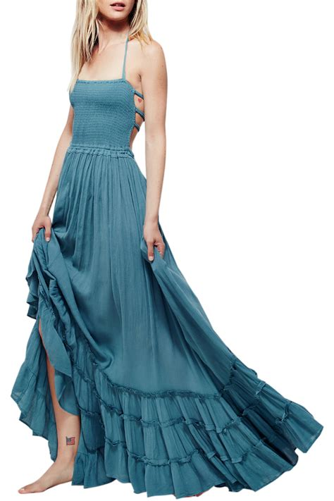 Backless Maxi Dress s casual solid halter backless maxi dress azbro
