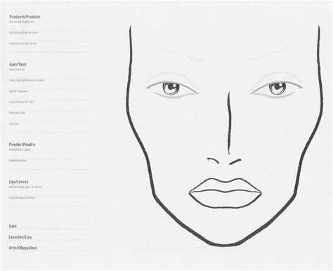 makeup design template preparation for a makeup template drawing chanel