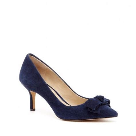 Two Inch Heels - s new navy suede 2 1 2 inch mid heel ena by