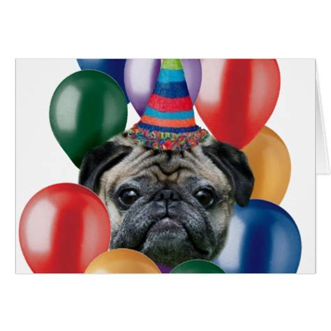 happy pug puppy celebrate the wrinkles with these pug birthday cards the cool card shop