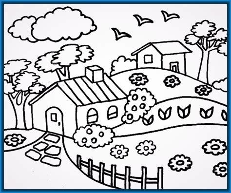 imagenes para pintar un paisaje colorear flores infantiles archivos dibujos para dibujar