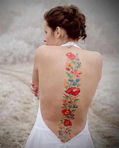 50 amazing spine tattoo for girls golfian com