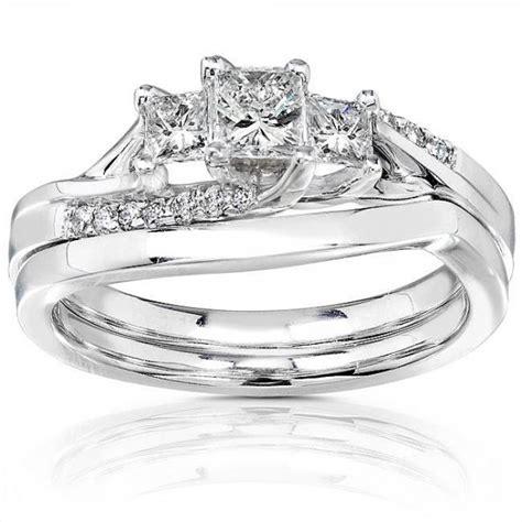 three princess wedding ring set for jewelocean