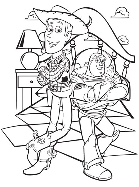 Free Buzz And Woody Coloring Pages Buzz Colouring Pages