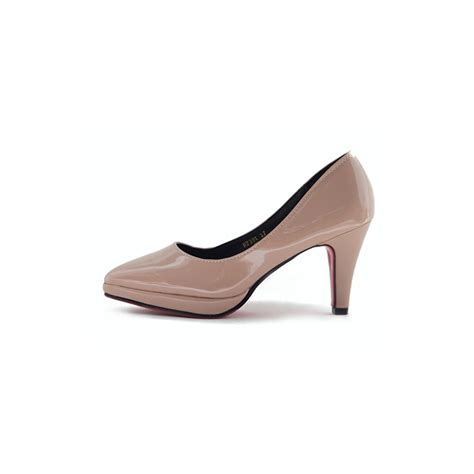 Pumps Heels Glossy K0405 s pointed toe glossy platform high heels pumps