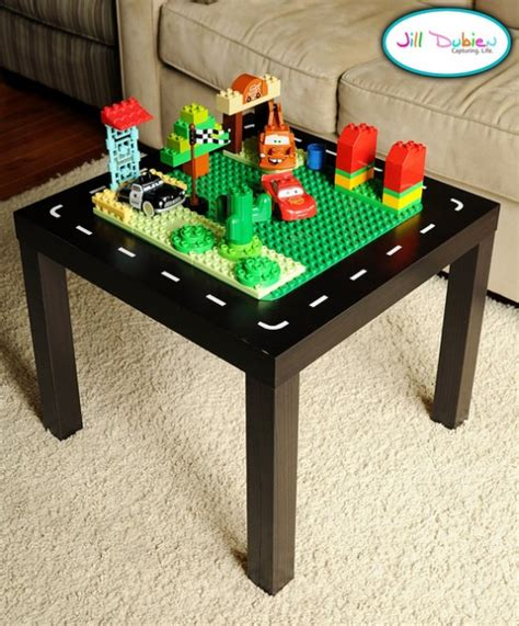 diy lego table adhesive 15 cool diy tables from ikea kidsomania